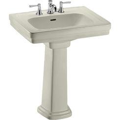 Click here to see Toto LPT530.8N#03 Toto LPT530.8N#03 Promenade 28 x 22 Bone Pedestal Lavatory Sink