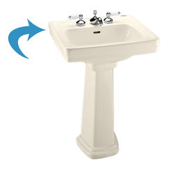 Click here to see Toto LT532#12 Toto LT532#12 Sedona Beige Promenade Pedestal Lavatory, Sink Only Single Hole