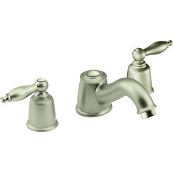 Click here to see Moen T4933STST Moen T4933STST Castleby Satine Two Handle Low Arc Roman Tub Faucet