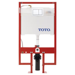 Click here to see Toto WT151800M#WH Toto DuoFit In-Wall Dual Flush 0.9 and 1.6 GPF Tank System PEX Supply Line and White Rectangular Push Plate - WT151800M#WH