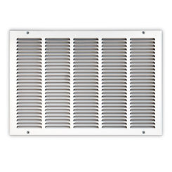 Click here to see Shoemaker 1050-14X14 14x14 Soft White Return Air Grille (Stamped from Cold Roll Steel) - Shoemaker 1050