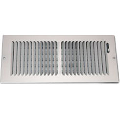 Click here to see Shoemaker 850-10X8 10X8 White 2-Way Stamped Vent Cover - Shoemaker 850 Series