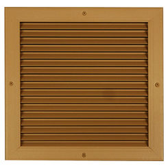 Click here to see Shoemaker 4000-18X4 18X4 Driftwood Tan Single Frame Aluminum Transfer Door Grille (Aluminum) - Shoemaker 4000