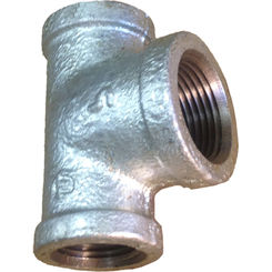 Click here to see Commodity  GALT121234 Galvanized Tee, 1/2 x 1/2 x 3/4 Inch