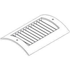 Click here to see Shoemaker RS52-12X6 12X6 Soft White Radius Spiral Pipe Diffuser Single Deflection - Shoemaker RS52