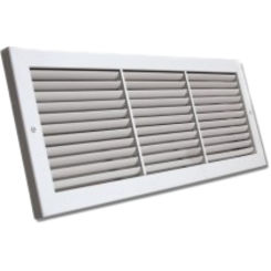 Click here to see Shoemaker 1100-30X8 30x8 Soft White Deluxe Baseboard Return Air Grille (Aluminum) - Shoemaker 1100