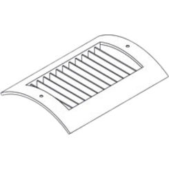 Click here to see Shoemaker RS52-16X6 16X6 Soft White Radius Spiral Pipe Diffuser Single Deflection - Shoemaker RS52