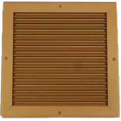Click here to see Shoemaker 4000-24X10 24X10 Driftwood Tan Single Frame Aluminum Transfer Door Grille (Aluminum) - Shoemaker 4000