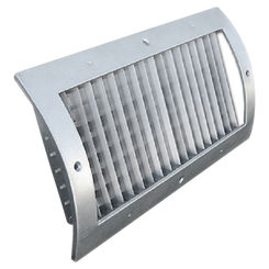 Click here to see Shoemaker RS34-0-8X4G 8X4 White Vent Cover (Galvanized)-Shoemaker RS34-0-GALV Series