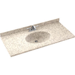 Click here to see Swanstone CH02255.046 Swanstone CH1B2255-046 Chesapeake Almond Galaxy Vanity Top
