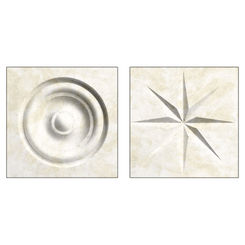 Click here to see Swanstone TC00404.125 Swanstone TC-0404TR-125 Cloud White Rosettes For Swanstone Panels - 2