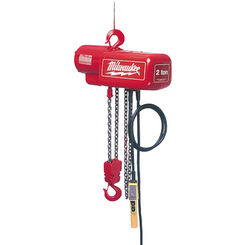 Click here to see Milwaukee 9566 Milwaukee 9566 model 1 Ton Electric Chain Hoist