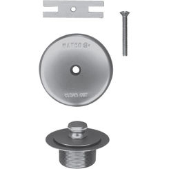 Click here to see Watco 58190-CP Watco 58190-CP Lift & Turn Polished Chrome Single-Hole Overflow Plate Assembly