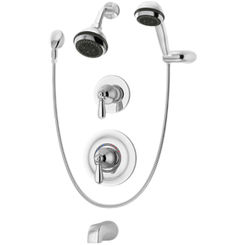 Click here to see Symmons 4706-STN-TRM Symmons 4706-STN-TRM Satin Nickel Allura Series Tub/Shower/Hand Shower System