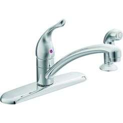 Click here to see Moen 67430 Moen 67430 Chateau Series Single-Handle Kitchen Faucet with Side Spray (Chrome)