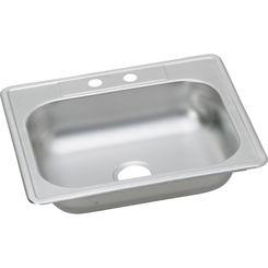 Click here to see Elkay K125212 Elkay K125212 Kingsford Stainless Steel Single Bowl Top mount Sink