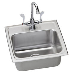 Click here to see Elkay LR1716C Elkay LR1716C Lustertone Stainless Steel Single Bowl Sink Package