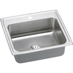 Click here to see Elkay LR2219PD1 Elkay LR2219PD1 Gourmet Stainless Steel Single Bowl Sink Package