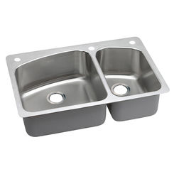 Click here to see Elkay DPXSR2250R3 Elkay DPXSR2250R3 Dayton Stainless Steel Double Bowl Sink