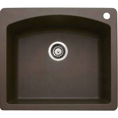 Click here to see Blanco 440208 Blanco 440208 Diamond Silgranit II Dual Mount Single-Bowl Sink (Cafe Brown)