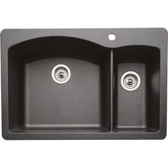 Click here to see Blanco 440215 Blanco 440215 Diamond Silgranit II Dual Mount 1-3/4 Bowl Sink (Anthracite)