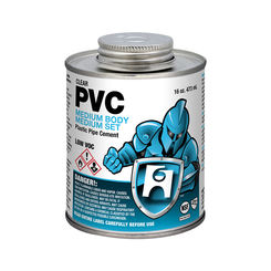 Click here to see Commodity  1/2 Pint PVC Clear Cement