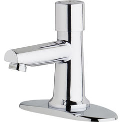 Click here to see Chicago Faucet 3500-4E2805ABCP Chicago Faucets 3500-4E2805ABCP Single Supply Metering Sink Faucet