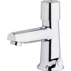 Click here to see Chicago Faucet 3501-E2805ABCP Chicago Faucets 3501-E2805ABCP Hot and Cold Water Metering Mixing Sink Faucet
