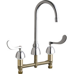 Click here to see Chicago Faucet 786-E3XKABCP Chicago Faucets 786-E3XKABCP Concealed Hot and Cold Sink Faucet