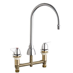 Click here to see Chicago Faucet 201-GN8AE29-1000AB Chicago Faucets 201-GN8AE29-1000AB Concealed Hot and Cold Sink Faucet