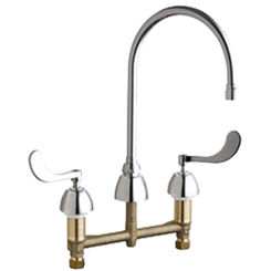 Click here to see Chicago Faucet 201-VAGN8AE3-317AB Chicago Faucets 201-VAGN8AE3-317AB Concealed Hot and Cold Sink Faucet