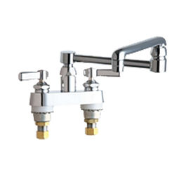 Click here to see Chicago Faucet 891-DJ13ABCP Chicago Faucets 891-DJ13ABCP Hot and Cold Sink Faucet