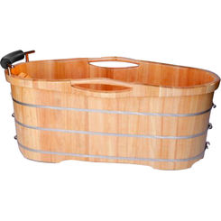Click here to see Alfi AB1163 ALFI AB1163 61-Inch Freestanding Wooden Bathtub, Rubber Wood