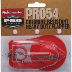 Click here to see Fluidmaster PRO54 Fluidmaster PRO54 Chlorine Resistant Heavy Flapper With Metal Chain