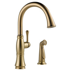 Click here to see Delta 4297-CZ-DST Delta 4297-CZ-DST Champagne Bronze Cassidy One Handle Kitchen Faucet w/ Spray