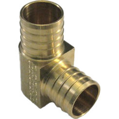 Click here to see   1 Inch PEX 90 Degree Elbow, Brass Construction