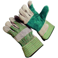 Click here to see Jones Stephens G50204 Green Leather Safety Cuff Glove