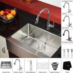 Click here to see Kraus KHF200-30-KPF2230-KSD30SN Kraus KHF200-30-KPF2230-KSD30SN Kitchen Sink And Faucet Combo
