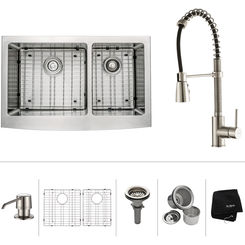 Click here to see Kraus KHF203-33-KPF1612-KSD30CH Kraus KHF203-33-KPF1612-KSD30CH Kitchen Sink And Faucet Combo