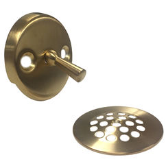 Click here to see Brasstech 275/10 Brasstech 275/10 Satin Bronze Trip Lever Tub Drain And Plate