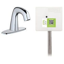 Click here to see Chicago Faucet EQ-A12A-53ABCP Chicago Faucets EQ-A12A-53ABCP EQ Chrome EQ Curved Series Lavatory Sink Faucet with Hands-free Infrared Detection
