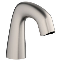 Click here to see Chicago Faucet EQ-A11A-KJKABBN Chicago Faucets EQ-A11A-KJKABBN EQ BRUSHED NICKEL Deck Mounted EQ Electronic Spout Assembly Curved Style