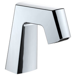 Click here to see Chicago Faucet EQ-B11A-KJKABCP Chicago Faucets EQ-B11A-KJKABCP EQ Chrome 243.145.AB.1 0.5 GPM (1.9 L/min) Non-Aerating Spray Cache Outlet EQ Angular Electronic Integral Spout Assembly