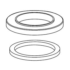 Click here to see Delta RP78366SS Delta RP78366SS Spout Flange and Gasket, Stainless