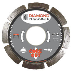 Click here to see Diamond 20966 Diamond Products 20966 Deluxe-Cut Segmented Rim Circular Saw Blade, 4in Dia