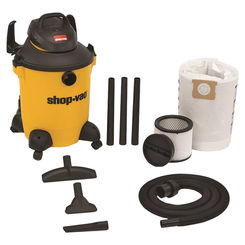 Click here to see Shop-Vac 9651000 Ultra Plus 9651000 Wet/Dry Corded Vacuum, 120 VAC, 10.5 A, 4 hp, 10 gal Tank, 185 cfm