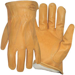 Click here to see Boss 6133J Boss 6133J Protective Gloves, X-Large, Premium Grain Leather, Gold, Cotton Thermal Lining