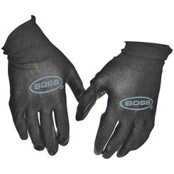 Click here to see Boss 7850N Boss 7850N Protective Gloves, Mens/Large, Nylon Shell, Black, Unlined Lining