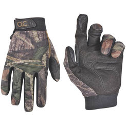 Click here to see CLC M125L Backcountry Sportsman High Dexterity Work Gloves, Large, 96% Polyester Shell/4% Spandex Back, Mossy Oak Camo