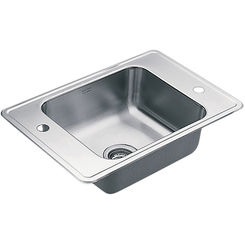 Click here to see Moen 22132 Moen Commercial 22132 Stainless Steel Single Bowl Sink